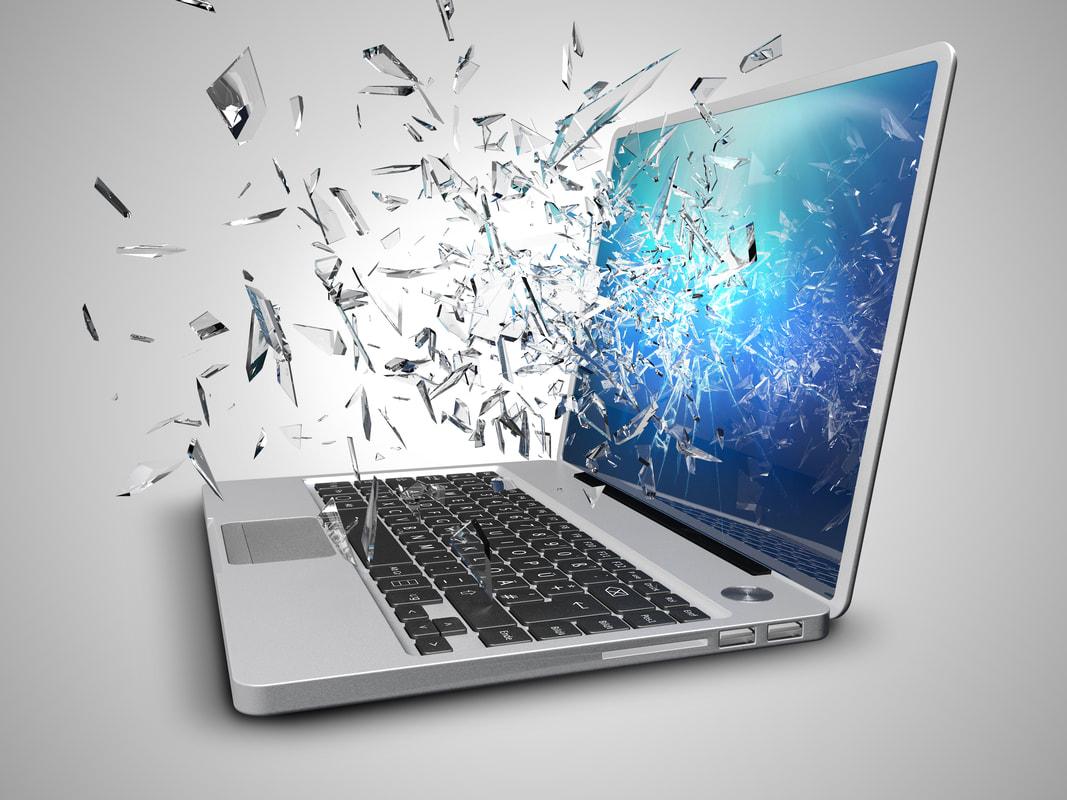 Broken Laptop Screen replacement and repair